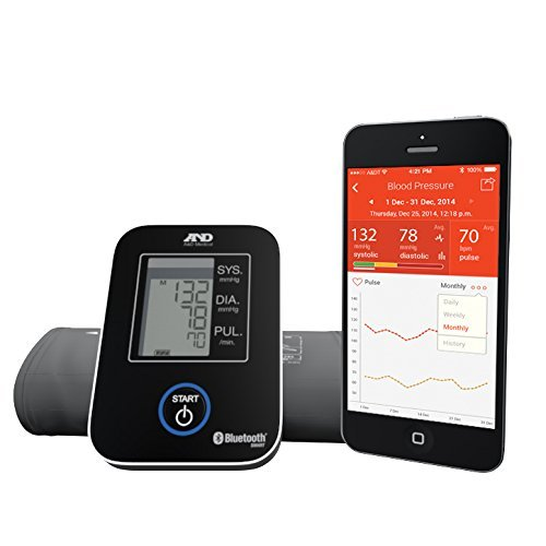 A&D Medical Wireless Connected Blood Pressure Monitor UA-651BLE