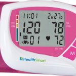 HealthSmart Automatic Wrist Blood Pressure Monitor with 60 Second Digital Readout, Pink