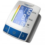 MeasuPro Automatic Wrist Blood Pressure Monitor Portable Device with Heart Rate Indicator, Two User Modes, Memory Recall and Large Backlit LCD Display