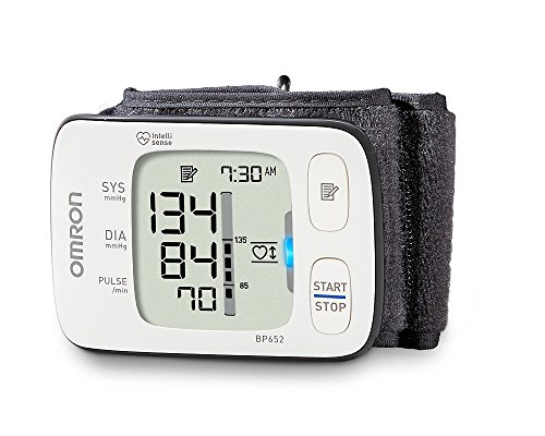 Omron 7 Series Wrist Blood Pressure Monitor (Model BP652) Clinically Proven Accurate with Heart Zone Guidance and Irregular Heartbeat Detector