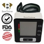 Blood Pressure Monitor Wrist Accurately Detects Blood Pressure Heart Rate & Irregular Heartbeat, Large LCD Display, 2 Year Warranty 2 User Selection 180 Memory Easy to Operate & Store (Black)