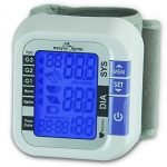 Easy@Home Digital Wrist Blood Pressure Monitor with Heart Beat / Pulse Meter Function – FDA Approved For OTC Use BP Monitor with Carry Case and Battery, Backlit Large Display, EBP-017