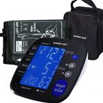 GoWISE USA Digital Blood Pressure Monitor with Hypertension Risk Indicator, Large Size Cuff, Large LCD Display – FDA Approved