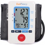 LotFancy FDA Approved Digital Upper Arm Blood Pressure Monitor,30X4 Memories for 4 Users,Irregular Heart Beat Detection, Large LCD Display,WHO Indicator (Medium Cuff 8.5-14 inch)