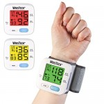 WrisTech Blood Pressure Monitor with Adjustable Wrist Cuff with Convenient Color Changing LCD Monitor