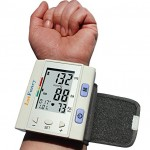 LotFancy FDA Approved Digital Auto Wrist Type Blood Pressure Monitor with Case,30×4 Memories, WHO Indicator,Last 3 Results Average