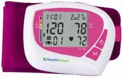 HealthSmart 04-825-001 HealthSmart Women's Automatic Wrist Digital Blood Pressure Monitor, Pink Product Shot
