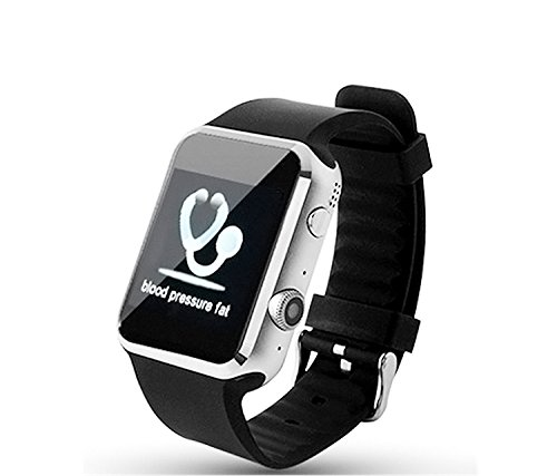 Smart Watch, Geekercity® Bluetooth Smart Watch A9S with Heart Rate Monitor Lower Blood Pressure and Blood Lipid for IOS Apple iPhone and Android Samsung, Sony, Motorola, LG, HTC (Black)