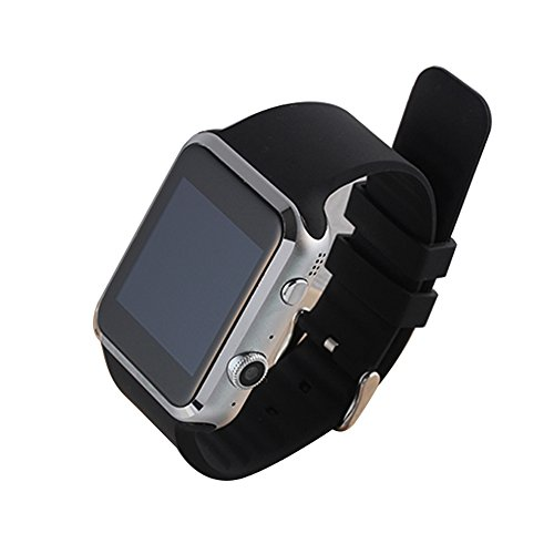 PowerLead Pwah A9S Bluetooth Smart Watch For Apple iPhone IOS & Android Smart Phone with Rate Detect Lower Blood Pressure and Blood Lipid 2 Million Camera Support Gsm / Gprs 850/900/1800/1900 Black