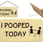 I POOPED TODAY. Mountain Meadows Pottery ceramic desk plaques and wall art signs with sayings and quotes about toddlers, constipated elders, seniors, people on pain killers, bathrooms, nurses, puppy owners, caregivers, invalids, nursing home and parents. Made by Mountain Meadows Pottery in the USA.
