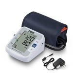 DEAYOKA FDA Approved Upper Arm Blood Pressure Monitor, Multi-featured Including BP+HR, Stores for Two Users with Wide-range Cuff and Power Cord