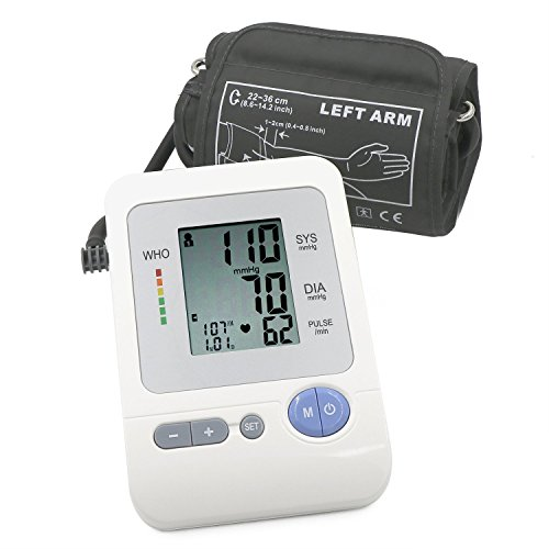 FDA Certificated Potable Upper Arm Blood Pressure Cuff By DigHealth(TM), Digital Blood Pressure Monitor With Wide-range Cuff, WHO Hypertension, Irregular Heart Beat Indicators (Medium Cuff 8.6-14.2
