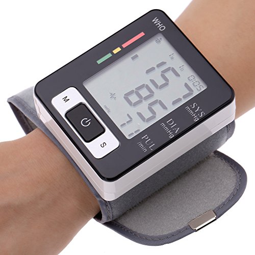 Automatic LCD Digital Wrist Monitor with Heart Rate with Case, Two User Modes, sphygmomanometer Digital Blood Pressure Monitor IHB Indicator