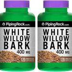 White Willow Bark 400 mg 2 Bottles x 120 Capsules