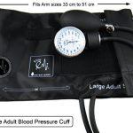 EMI Manual Blood Pressure Cuff – Black Plus Carrying Case (Large Adult (33 cm to 51 cm))