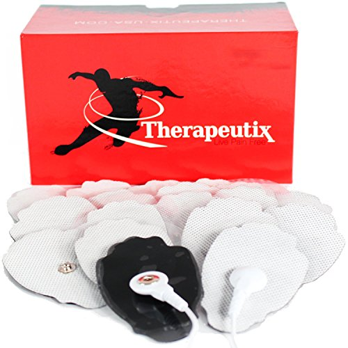 Therapeutix TENS Unit Electronic Massager Snap-On Electrode Pads (20), Medium