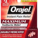 Orajel Maximum Strength Toothache Pain Relief Double Medicated Gel, 0.25 Oz (Pack of 6)