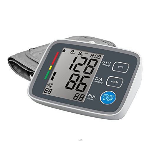 Upper Arm Blood Pressure Monitor FDA Approved Digital Blood Pressure Monitor with Large Cuff 2 User Modes Easy-to-Read Backlit LCD
