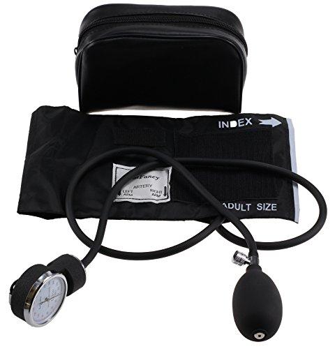 LotFancy Manual Blood Pressure Cuff (Aneroid Sphygmomanometer) with Zipper Case, FDA Approved (Adult Cuff M 10-15.9 inch)