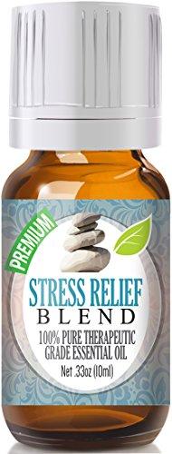 Stress Relief Blend 100{0ad59209ba3ce7f48e71d4a0dc628eee9b107ea7079661ded2b3bda89b047a8b} Pure, Best Therapeutic Grade Essential Oil - 10ml - Bergamot, Patchouli, Blood Orange, Ylang Ylang, Grapefruit