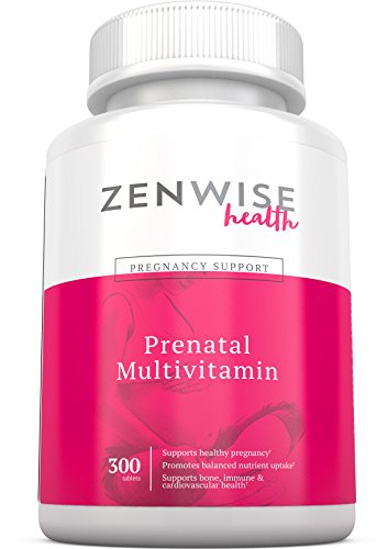 Prenatal Vitamins - Multivitamin With Folic Acid, Probiotics, Biotin and Vitamin A & C - Optimal Women's Supplement for Healthy Pregnancy - Brain, Bone, Immune & Heart Support - 300 Count Tablets