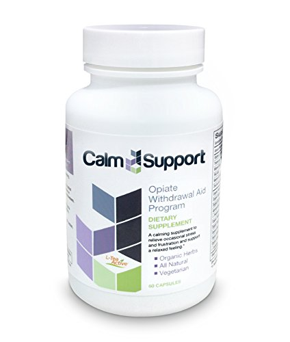 CalmSupport Opiate Withdrawal Aid to Help Ease Symptoms of Opiate Abuse Related to Percocet, Vicodin, Suboxone, Methadone, Codeine, Oxycontin, Hydrocodone, Oxycodone, Fentanyl, Morphine, Heroin, and Other Opiate Painkillers and Pain Pills Calm Support - 60 capsule