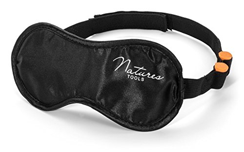 #1 BEST Sleep Mask with earplugs - Ultra Soft Satin - Comfortable black eye mask for sleeping - Best for travel - long flights - short naps - Blocks light when fitted correctly - Ultra light masks help with insomnia & sleep disorders - High quality silk feel - wide strap - velcro - earplugs holder - Best eye cover - guaranteed