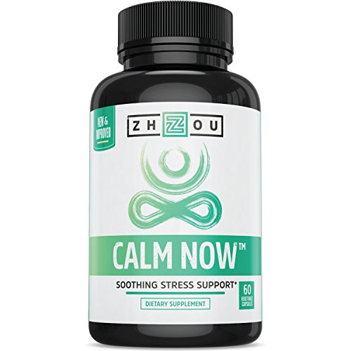 CALM NOW Anxiety Relief and Stress Support Supplement - Herbal Blend Keeps Busy Minds Relaxed, Focused & Positive - Promotes Serotonin Increase - Ashwagandha, Rhodiola Rosea, B Vitamins, Bacopa & More