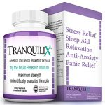 TranquiliX Anti-Anxiety Mood Support   Fast Anxiety Relief and Sleep Aid  Soothe Panic Attacks   Relaxation and Stress Reduction Formula   5-HTP, GABA, Melatonin, Lavender, Valerian (120 Capsules)