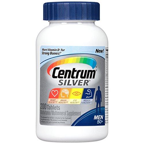 Centrum Silver Men Multivitamin / Multimineral Supplement Tablet, Vitamin D3 (200 Count) (Package May Vary)