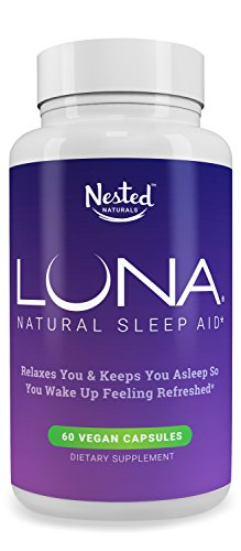 LUNA - #1 Natural Sleep Aid on Amazon - Herbal, Non-Habit Forming Sleeping Pill (Made with Valerian, Chamomile, Passionflower, Lemon Balm, Melatonin & More!) - Nested Naturals Lifetime Guarantee