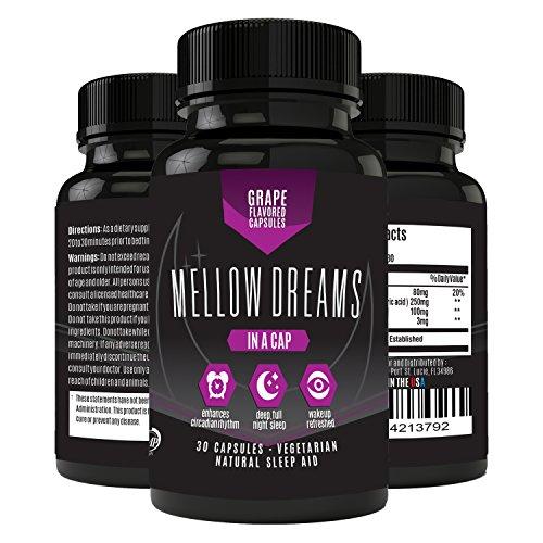 Natural Sleep Aid with Melatonin, Magnesium, GABA, and 5-HTP - Non Habit Forming Sleeping Pills - 30 Vegetarian Capsules