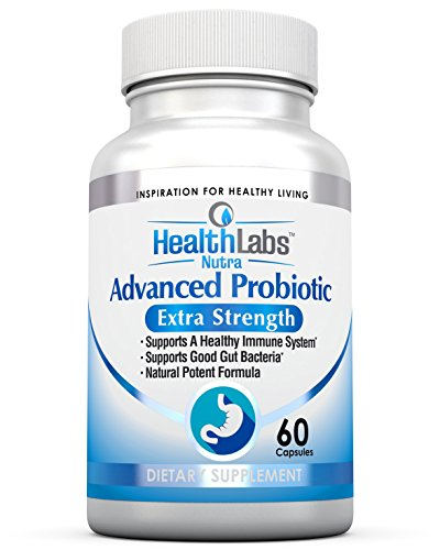 Advanced Probiotic Extra Strength Supplement for a Healthy Immune System, Restores Good Bacteria, Relieves Leaky Gut, Nausea, Indigestion, Irritable Bowel Syndrome - Supports Your Immune System, for Women, Men and Kids, 60 Caps - 100{0ad59209ba3ce7f48e71d4a0dc628eee9b107ea7079661ded2b3bda89b047a8b} Potent Formula