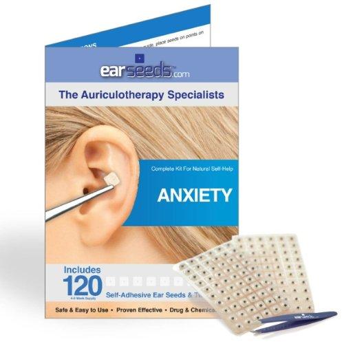 Anxiety Ear Seed Kit- 120 Ear Seeds, Stainless Steel Tweezer by EarSeeds.com