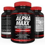 AlphaMAXX Male Enhancement Supplement | Enhancing Libido, Drive, Performance, Boost Testosterone | Ginseng Muira Puama Tribulus 60 Herbal Pills | BioScience Nutrition