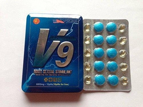 V9 Male Sexual Stimulant Best Enhancement Pills 1 Tin = 10 Doses