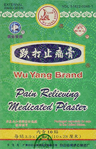 Solstice Medicine Company Wu Yang Brand Pain Relieving Medicated Plaster, 10 Count