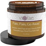 """Full Body Arthritis, Joint Pain & Sore Muscle Relief Aromatherapy Dead Sea Bath Salts – """"Pain Pain Go Away"""" by Vi-Tae 16oz"""