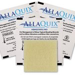 (Pack of 3) AllaQuix Stop Bleeding Pad • (SMALL 1-inch square) • Professional-Grade First-Aid Hemostatic Gauze (Blood Clotting Bandage)