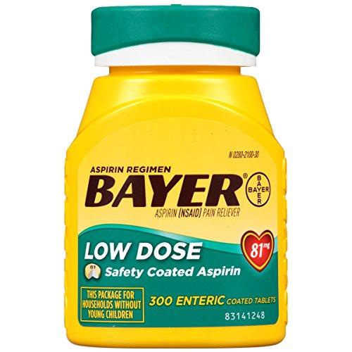 Bayer Aspirin Regimen Low Dose 81mg, Enteric Coated Tablets, 300-Count