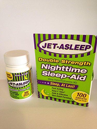 Jet-Asleep Double Strength Nighttime Sleep-Aid 100 Count