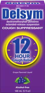Delsym Adult Cough Suppressant Grape with Dosage Cup (3 Fluid Ounces, Pack of 2) Product Shot