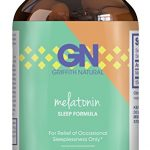 Pure Melatonin Sleep Aid – Fall Asleep Fast + Easier Best All Natural Supplement – Deep Calm + Restful Sleep Cycle – Non Habit Forming Gentle 3mg Dosage – Circadian Rhythm Hormone –