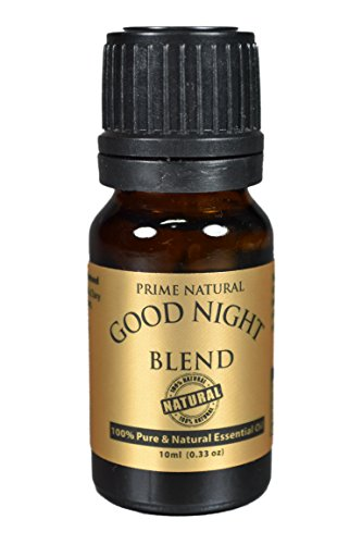 Good Night Essential Oil Blend 10ml - 100{0ad59209ba3ce7f48e71d4a0dc628eee9b107ea7079661ded2b3bda89b047a8b} Natural Pure Undiluted Therapeutic Grade for Aromatherapy, Scents & Diffuser - Natural Sleep Aid, Depression Stress Anxiety Relief, Relaxation, Boost Mood