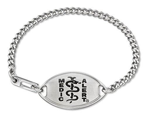 MedicAlert® Medical ID Bracelet w/ Black Accents-