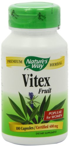 Nature's Way Vitex (Chaste Tree),  400 mg, 100 Capsules (Pack of 2)