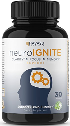Extra Strength Brain Supplement for Focus, Energy, Memory & Clarity - Mental Performance Nootropic - Physician Formulated Brain Booster with Super Ginkgo Biloba, St. John's Wort, & More