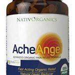 Natural Pain Reliever – USDA Organic Pain Relief For Headaches, Muscle Aches, Joint Pain, Arthritis – With Aloe Vera + Sea Buckthorn Berry – 60 Vegan Caps – All Natural Pain Killer – AcheAngel