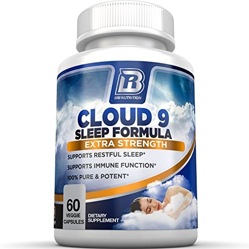 BRI Nutrition - 100{0ad59209ba3ce7f48e71d4a0dc628eee9b107ea7079661ded2b3bda89b047a8b} Natural Sleep Formula - Pure and Powerful Non-Habit Forming Nighttime Sleep Aid Supplement - 60 Vegetarian Capsules - for Deep & Restful Sleep