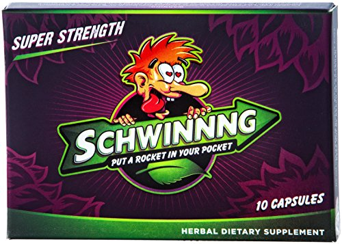 SCHWINNNG * SUPER STRENGTH - NEW ALL-NATURAL MALE ENHANCEMENT PILL * from the makers of SUSTAIN (10 capsules)